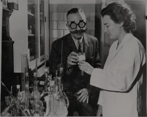 il dr. Barbanera in laboratorio